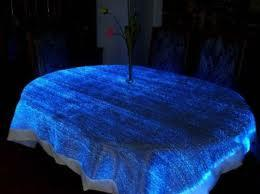Fiber Optic Shining Table Cloth (HYC-101) for Hotel, Bar, Home pictures & photos