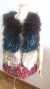 Natural Fur Vest Natural Fur Collar Es01 pictures & photos