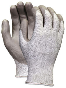 Gray PU Protection Working Gloves