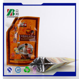 Plastic Bag Stand up Spout Pouch with Bottom Gusset pictures & photos