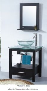 Furniture with Glass Sink Bathroom Vanity