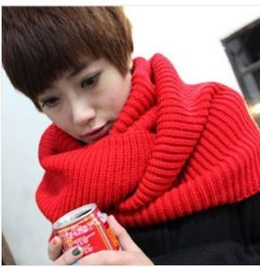 Winter Warm Acrylic Knitted Infinity Scarf (MU6605) pictures & photos