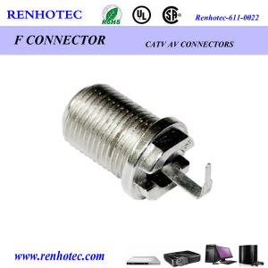 90 Degree F Female Jack Connector for Cable pictures & photos