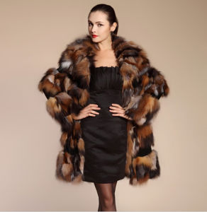 2015 Luxury New Fashion Winter Real Fox Fur Coats pictures & photos