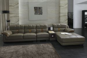 China Sofa Factory L Shape Leather Sofa pictures & photos