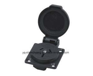 Australian-Style Waterproof Outlet 060201 (with round cover) pictures & photos