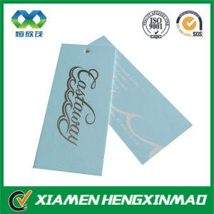 Elegant Bule Color Coated Paper Hang Tag for Garment