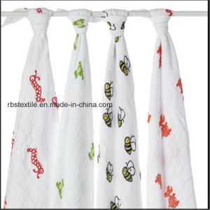 Baby Muslin Swaddle Blanket Sleeping Nursing Cover Made of Cotton pictures & photos