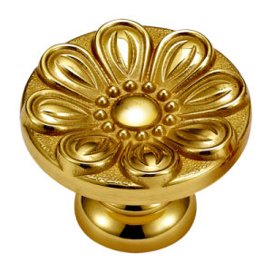 High Quality Gold Plated Foreged Brass Furniture Handle pictures & photos