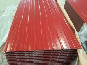 Colour Coated Corrugated Galvanized Steel Roofing Sheets pictures & photos