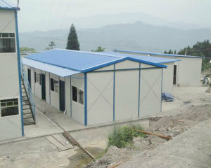 High Quality Fireproof Rockwool Sandwich Panel Prefabricated House pictures & photos