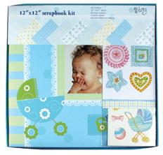 "12""X12"" Customized Paper Scrapbook Album Kit pictures & photos"