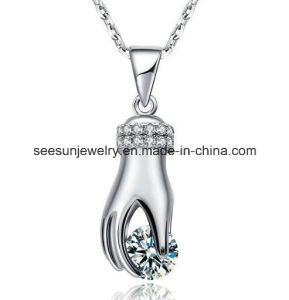 Fashion Silver Jewelry Hand Pendant with Zirconia pictures & photos