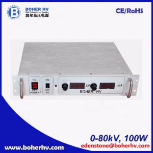 High power supply 80kV 100W for general purpose with UK technology LAS-230VAC-P100-80K-2U pictures & photos
