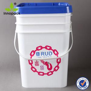 20L Square Plastic Pail Bucket with Lids (PPP20L004FS) pictures & photos