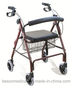 Lightweight Aluminum Rollator with PVC Seat (BES-OL01)