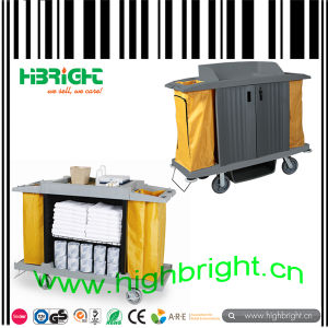 Plastic Housekeeping Cleaning Cart Trolley pictures & photos