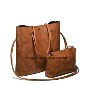 New Fashion PU Leather Tote Bag Ladies Set Bag pictures & photos