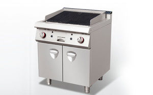 Lave Rock Grill with Cabinet