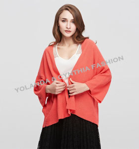 Fashion Women′s Leisure Short Cardigan Colorful Knitwear