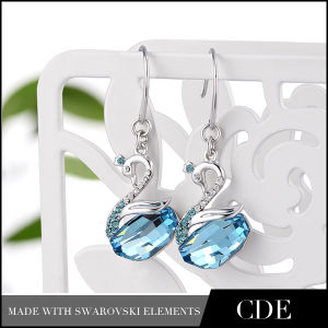 Fashion Drop Earring with Blue Stone (E0063C)