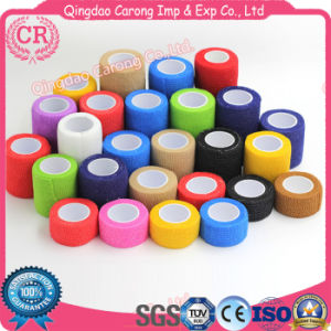 Self Adhesive Waterproof High Cohesive Colored Elastic Bandage pictures & photos
