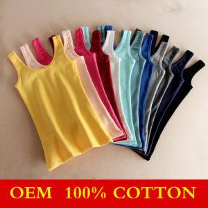 Wholesale Womens Plain Cotton Slim Vest pictures & photos