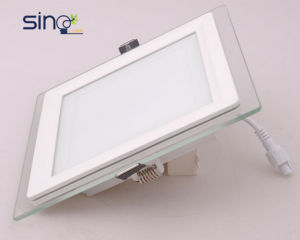 Square LED Down Light, 6W Glass LED Panel Light pictures & photos