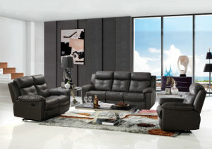 Black Genuine Leather Recliner Sofa for Wholesaler (437) pictures & photos