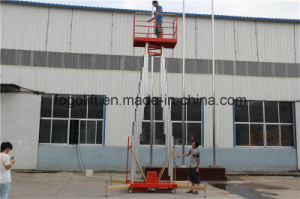 Light Weight Electric Hydraulic Aluminum Mast Vertical Man Lift pictures & photos