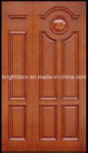 China waterproof main door teak wood exterior door frame for Teak wood doors models