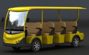 Pure Electric Sightseeing Bus with 11 Seats on Sale Made by Dongfeng