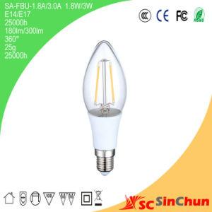 New Product E14 Base LED Candle Bulb Light LED Filament Candle Shenzhen China Manufacturer