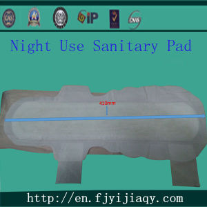 Disposable 410mm Night-Use Feminine Sanitary Pads pictures & photos
