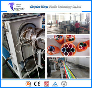 Cod Pipe Making Machine / Plastic Cod Pipe Extrusion Line / Plastic Pipe Extruder pictures & photos