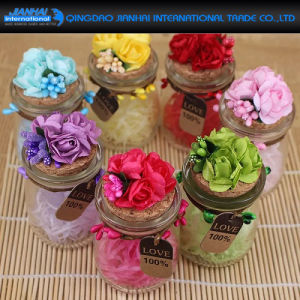 Sales Promotion Glass Pudding Bottle for Wedding Gift pictures & photos