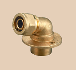 Brass Compression Fitting Wallplate for Pex Pipes