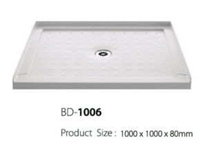 Antislip Surface Center Drain Three Flanges Shower Base (BD-1006) pictures & photos