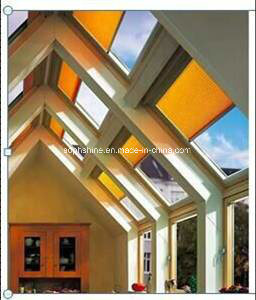 Electronic Control Cellular Shades Inserted Into Insulated Tempered Glass for Shading or Partition pictures & photos