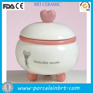 Charming Heart Candle Jar Ceramic Candle Holders pictures & photos