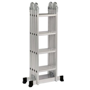 4X3 Telescopic Aluminum Ladder Stand with 12 Steps pictures & photos