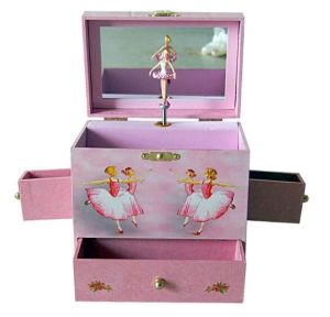 Exquisite Rotating Music Box with Mirror (MB-010) pictures & photos