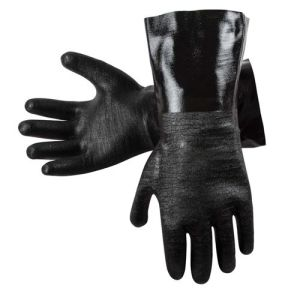 High Temperature Oil Resistant Rubber Gloves Finished Cuff pictures & photos