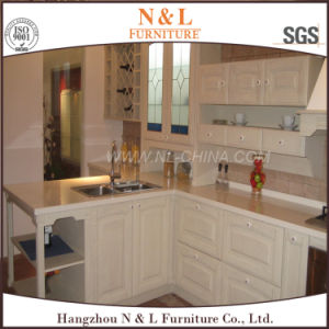 Cherry Solid Wood Design Kitchen Cabinets with ISO9001, SGS Certification pictures & photos