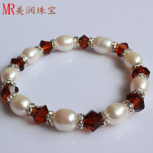 Stretched Fresh Water Pearl Bracelet with Red Agate pictures & photos