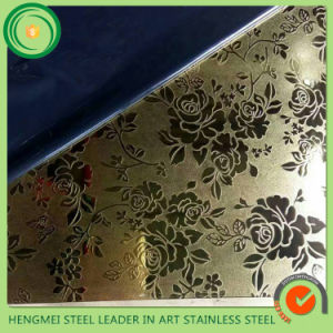Top 10 Supplier Stainless Steel Sheet Manufactory Laser Etch for Wall Panel pictures & photos