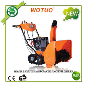 Double Clutch Automatic Snow Blower with Track for CE Approved (WST3-9)