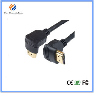 Universal Gold Plated 90 Degree HDMI Cable 2.0V Support 4k*2k pictures & photos