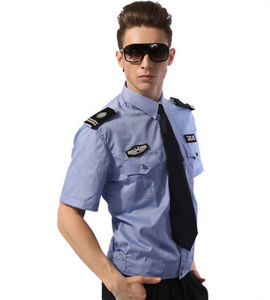OEM Blue Policemen′s Clothes Security Guard Uniform Shirts pictures & photos