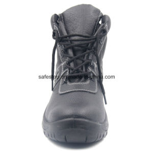 Split Leather High Cut Construction Safety Shoes pictures & photos